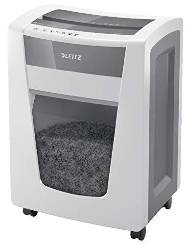 Leitz IQ Office Pro Aktenvernichter, Mikroschnitt, Sicherheitsstufe P5+, 7 Blatt Kapazität, 30L Abfallbehälter, Schredder, Weiß, 80040000