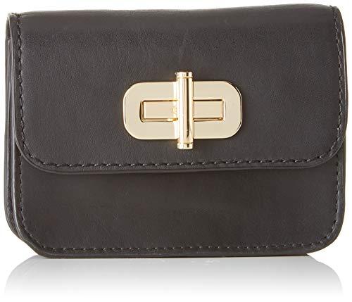 Tommy Hilfiger Damen Soft Leather Sm Flap Wallet Geldbörse, Schwarz (Black), 2.5x9x11 cm