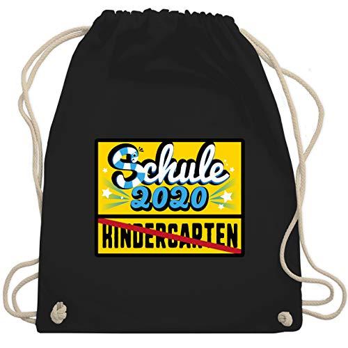 Einschulung und Schulanfang - Ortsschild Schule 2020 Kindergarten - Unisize - Schwarz - sprüche turnbeutel - WM110 - Turnbeutel und Stoffbeutel aus Baumwolle