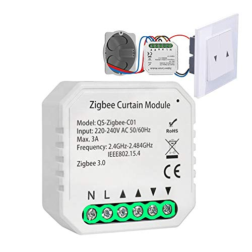 ADFSWS Módulo Smart Zigbee 3.0 Cortina Módulo de Interruptor de Rodillo Motor Ciego DIY Smart Home by Google Assistant Alexa Zigbee2mqtt para Cortina/Disparador de Rodillos/Puerta de Motor
