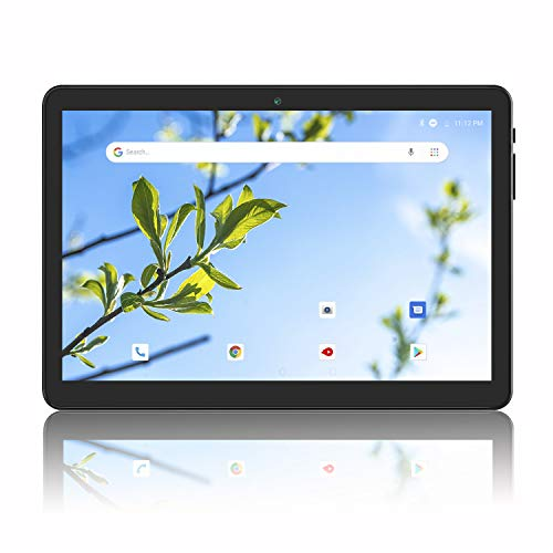 Android Tablet 10 Inch, 3G phablet PC, 16GB, Android 8.1 Go Tablets with Dual SIM Card Slots, GMS Certified, WiFi, Bluetooth - Black