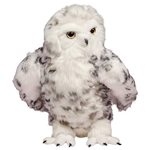 Douglas Shimmer Snowy Owl Plush Stuffed Animal with Jointed Head