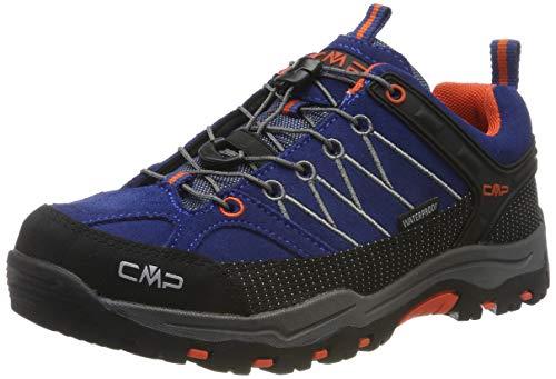 CMP Kids Rigel Low Trekking Shoes WP, Scarpe da Arrampicata Basse Unisex-Bambini, Blu (Marine-Tango 05md), 38 EU
