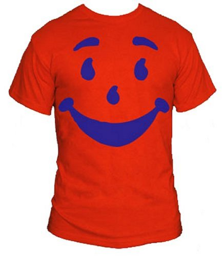 Kool Aid Guy T-Shirt-Funny Brick Wall Bustin' Thirst Quenchin' Shirt-Red-XXXL
