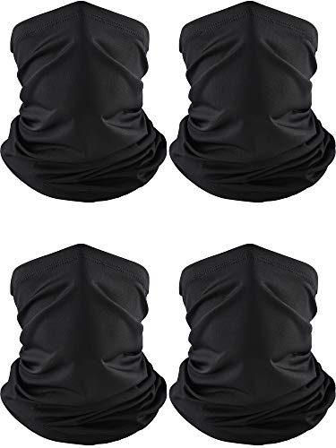 Norme Summer Face Cover Neck Gaiter Cooling Sunblock Face Cover Breathable Bandana (Black, 4)