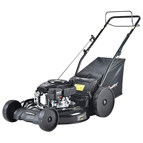 PowerSmart Lawn Mower, 22-inch & 170CC, Gas Powered Self-Propelled Lawn Mower with 4-Stroke Engine, 3-in-1 Gas Mower in Color Black, 5 Adjustable Heights (1.18''-3.02''), DB8622SR