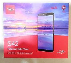 Itel S42 (Full Screen Smartphone), Capacity 16GB (Black)