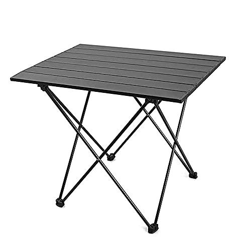 CZYNB Mesa Plegable de Camping portátil, Mesa de Aluminio Ultraligero con Bolsa de Almacenamiento, Cubierta de pie de Alta Densidad Antideslizante, cocinar al Aire Libre, Picnic
