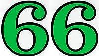 (シャシャン)XIAXIN 防水 PVC製 ナンバー ステッカー 耐候 耐水数字 ゼッケン キャラクター 表札 スーツケース 背番号 ネームプレート ロッカー 屋内外 兼用 TS-139GRB (2点, 6)