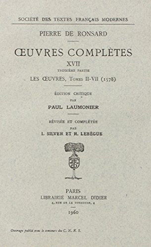 Oeuvres complètes, 1578, volume 17