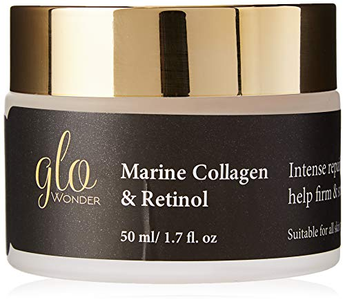 Marine Collagen Face Cream with Retinol High Strength, Anti-wrinkle Moisturiser for Men and Women...