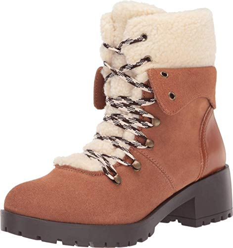 Skechers Women's Trail Troop-Sherpa Tongue and Collar Mid Hiker Boot Fashion, Chestnut, 8.5 M US
