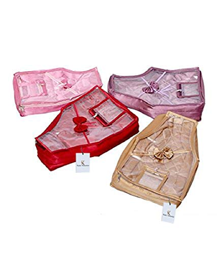 """Kuber Industriesâ""""¢ Blouse Cover in Quilted Satin Fabric Set of 4 Pcs"""