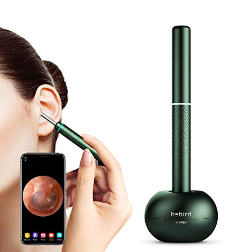 BEBIRD M9 Pro Otoscope, Smart Visual Ear Cleaning Stick with 1080P HD Digital Endoscope for Earwax Cleaning Received A 4-axis Intelligent Gyroscope (Green)