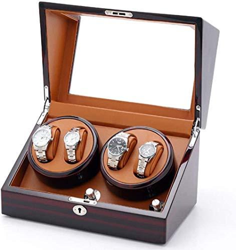 Caja enrolladora de Reloj automática 4 enrolladora de Reloj para Hombre para Guardar Relojes 2 enrolladora de Reloj enrolladora de Reloj Doble Caja enrolladora de Reloj con Pantalla-UNA Well