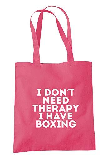 illustratedidentity I Don't Need Therapy I Have Boxsack, 37,5 x 42 cm, mit langen Griffen, Pink - himbeere - Größe: Einheitsgröße