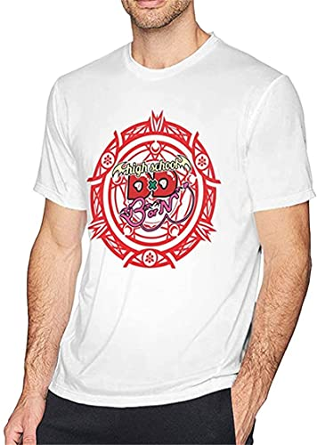 T-Shirts Men's Design High School DXD Logo Crew Neck Cotton Short Sleeve T-Shirt Adult tee Black