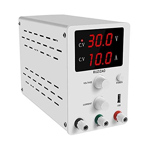 Fuente de alimentación DC Variable 3 Pantalla LED Digital Regulada ajustable Fuente de alimentación conmutada Digital (30V 10A)