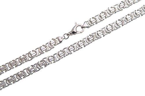 Flache Königskette 9mm - massiv 925 Silber, Länge 60cm