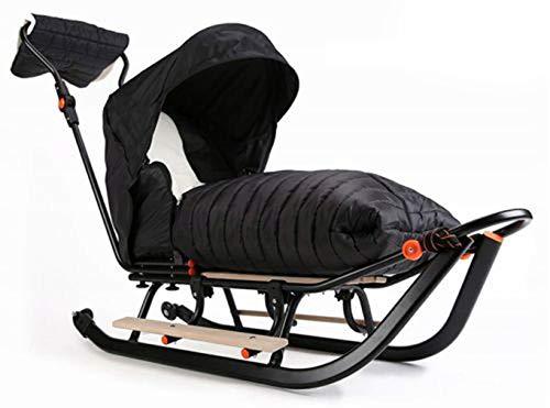 Premium LINE Plus Kinderschlitten Babyschlitten, Fußsack - 3-in-1- Kinderschlitten mit Rädern und Muff - Verschiedene Modelle (Modell: PLP793805621)