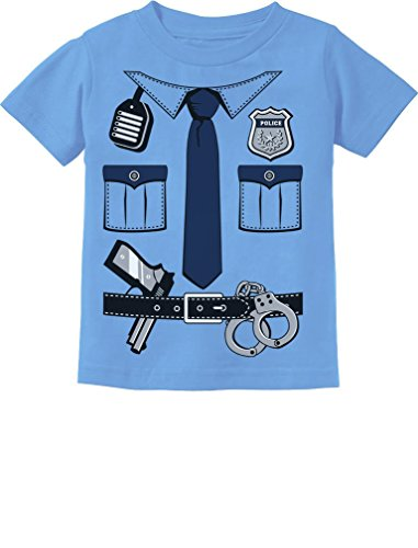 Police Cop Uniform Halloween Costume Policeman Suit Toddler Infant Kids T-Shirt 5/6 California Blue