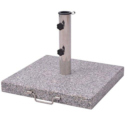 vidaXL Pied de Parasol Granit Base de Parasol Support Socle de Parasol