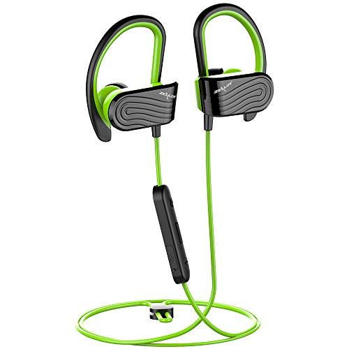 Auricolari Bluetooth Sportivi Cuffie Bluetooth Senza Fili in-Ear Resistenti al Sudore per Ciclismo Running,Microfono Incorporato,Compatibili con Samsung Huawei Iphone,ecc-Verde