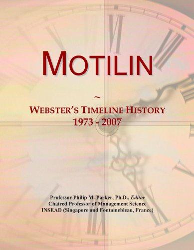 Motilin: Webster's Timeline History, 1973 - 2007
