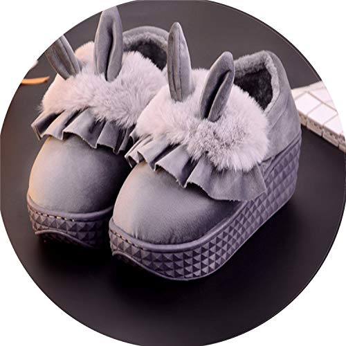 Love & Freedome Slippers House Shoes High Heels Fur Slides Warm Winter Women Indoor Furry Autumn footwearshoes Woman,4,35