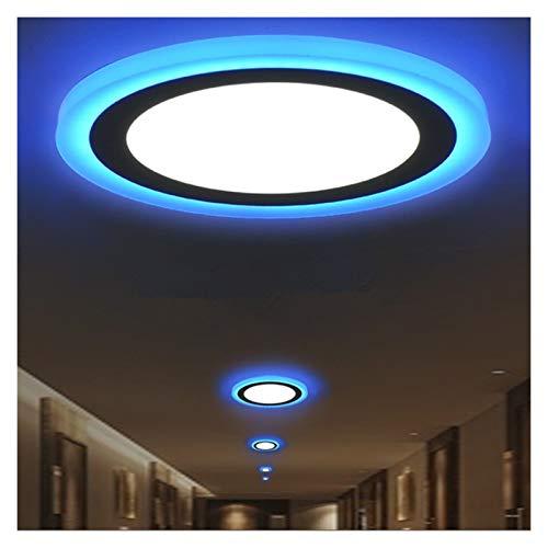 Lámpara de Techo Luz regulable 6W 9W 16W LED luz del panel moderno redondo / cuadrado de techo blanca caliente / fría + luz azul for sala de estar de la decoración del pasillo Decoraciones interiores