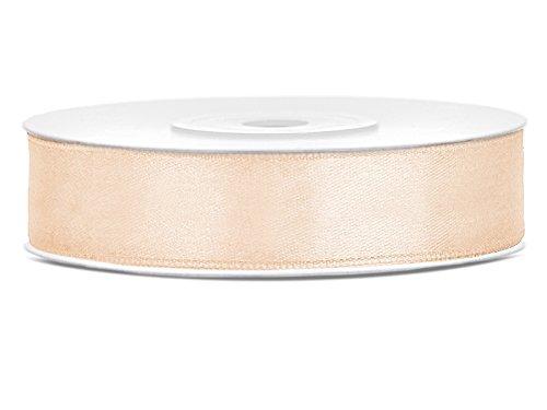 Like a Girl - wir lieben Hochzeiten 25m lang / 12mm breit Satinband Schleifenband Dekoband Satin Antennenschleifen (Creme)