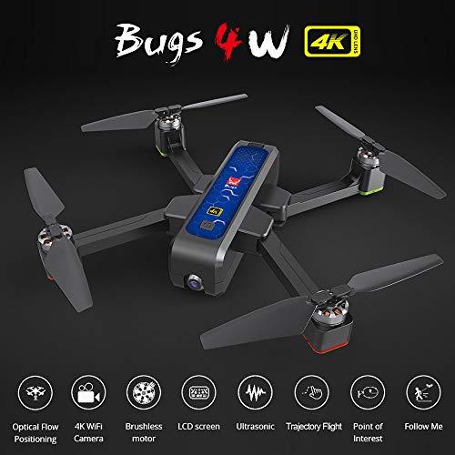 Mobiliarbus RC Drohne mit Kamera 4K B4W Drohne Bugs 4W Brushless 5G WiFi FPV GPS Ultraschall Optische Durchflusspositionierung Drohne Faltbarer Quadcopter Follow Me Drohne mit 3 Batterien Handtasche