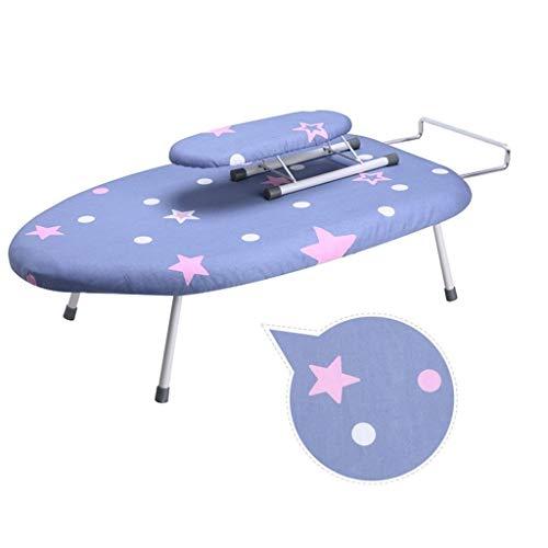 C-J-Xin Desktop strijkplank, Reinforcement Plastic strijkplank gemakkelijk te vouwen Strijkplank, 5 kleuren, geschikt for Dormitory 60 * 36 * 19cm Wasserijbenodigdheden