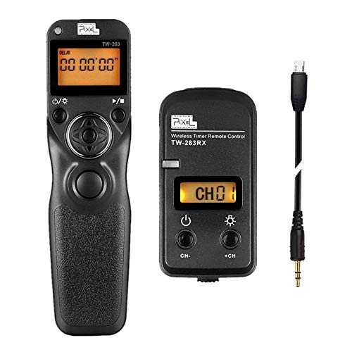Pixel TW-283/S2 Obturateur Déclencheur à Distance Intervallomètre pour Verser Télécommande de Minuterie Sony A68 A7 A7II A7R A7R-II A7S A6300 A6500 RX100II RX1R RX100-III RX1001V HX400V HX90V