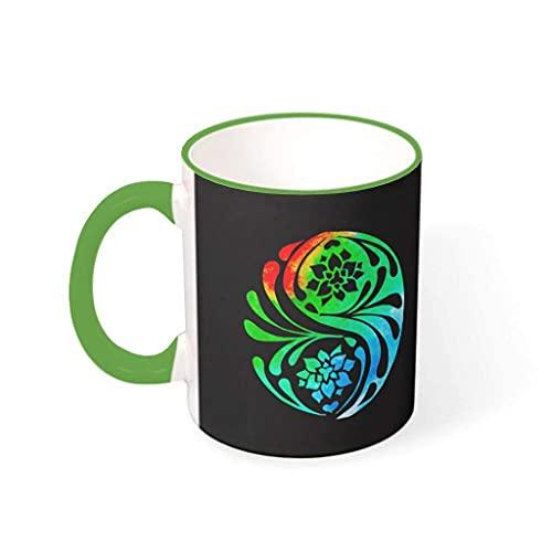 N\A Taza de café de Yoga con Flor de Loto, Taza de Escritorio de cerámica con Estampado único, Regalo Presente para Madre y Padre