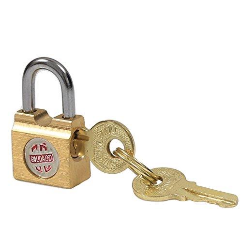 Small 15mm Brass Padlock - Suitcase/Luggage Lock