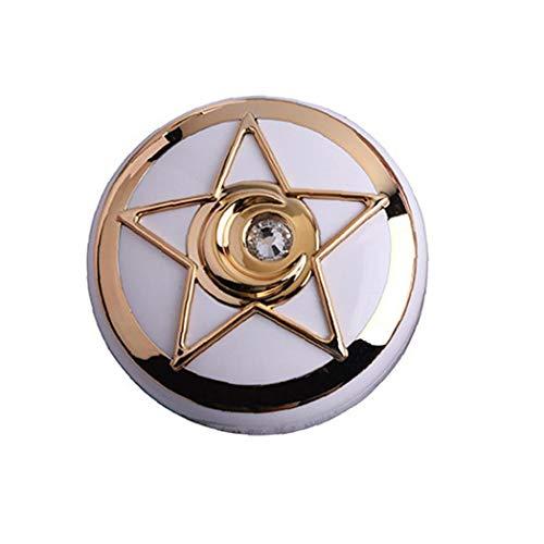 Aisoway Tragbare Kreis Kontaktlinse Kasten-Diamant mit Spiegel-Spielraum-Speicher-Container