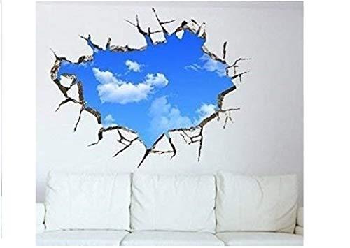 NEU Wandaufkleber Blue Sky Wandtattoo Wandsticker Mini Tapete Himmel Blau Wolken Wall Mauer Deckenaufkleber Wand Decke Tattoo Vinyl Sticker Aufkleber Deko Wanddeko (selbstklebend) - Marke HUKITECH