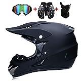 LWAJ Casco da Motocross per Fuori-Strada, Bambini Quad Bike ATV Go Karting Casco Uomini E Donne Battery Car Helmet Mountain Bike Casco con Occhiali/Guanti