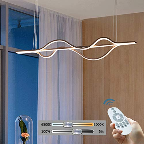 Lampara Colgante Aluminio Lampara Suspension Led Lampara Techo Acrilico Cafe Liluminacion Colgante Moderna Simple Altura De 55 Vatios Luz Techo Oficina Oficina Ajustable Comedor Villa,Dimming