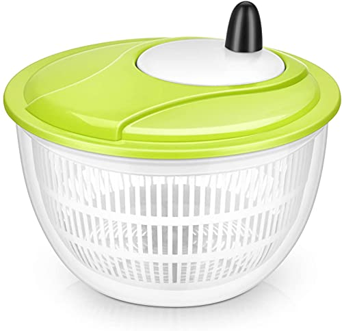 Lougnee Premium Large Salad Spinner 5 Quarts Vegetable Washer with Bowl 4.5L