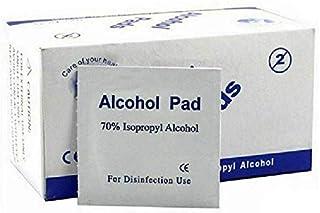 Ynr 70% Alcohol Pre-inyección Isopropílico Toallitas - Individualmente Envuelto Primeros Auxilios Piel Limpieza Fácil de Tirar Bolsita Toallitas - 100PCS