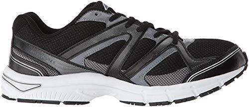 Avia Men's Avi-Execute-II Running Shoe, Black/Metallic Iron Grey/Chrome Silver, 13 4E US