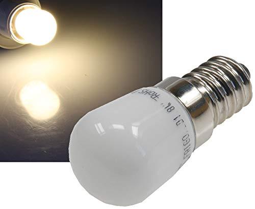 ChiliTec LED Kühlschranklampe E14 | 2W | Ersatz für 15W Halogenlampe |140 lm | 23 x 51 mm Klein | Auch Für Nähmaschine Und Dunstabzugshaube Geeignet | Warmweiß