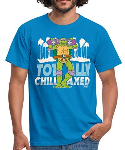 TMNT Turtles Donatello Mit Skateboard Männer T-Shirt, 4XL, Royalblau
