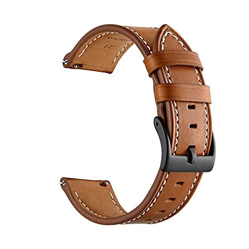 Banda De Reloj De Cuero para Huawei Watch GT 2 42mm Strap Strap GT2 42mm SmartWatch Banda Pulsera Accesorios (Color : 2, Size : GT 2 42mm)