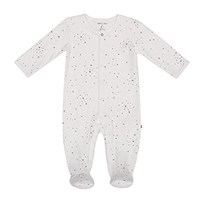 Petit Lem Baby Sleeper, Organic Cotton, Softand Cute Onesie Pajamas, Off White, 9M