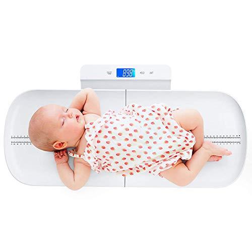 MYLW Báscula para Bebé Infantil Digital báscula con Display Retroiluminado, Auto-Stop para niños pequeños Capacidad de hasta 100kg Carga USB