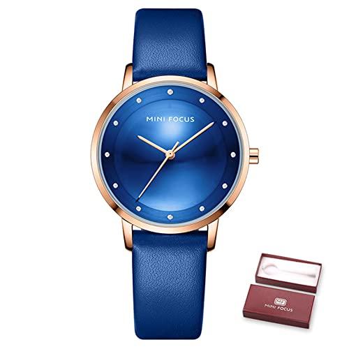 YIBOKANG Pequeño Fresco Casual Deportes 30 M Reloj Impermeable Chica Moda Temperamento Reloj De Piel De Becerro Reloj De Cuarzo Regalo De Cumpleaños