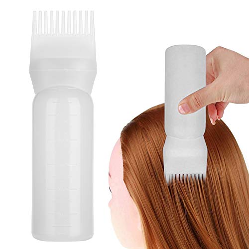3 kleuren Haarverven Flessenborstel, Shampoo Haarkleur Olie Kam Applicator Haarverf Essentieel gereedschap, Geschikt voor professioneel gebruik of thuisgebruik(Wit)